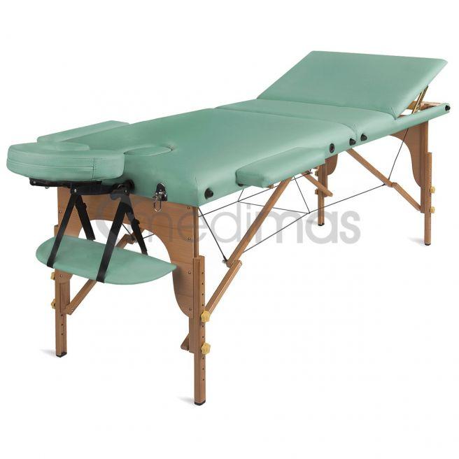 Hopfällbar 3-sektions massagebänk i trä Prosport 3