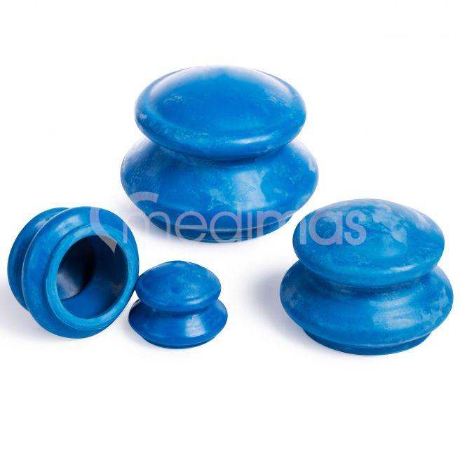 Gummikoppor för cellulitmassage 4st