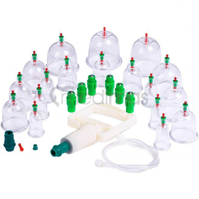 Koppningsset - vakuum plastkoppor med pump 18st