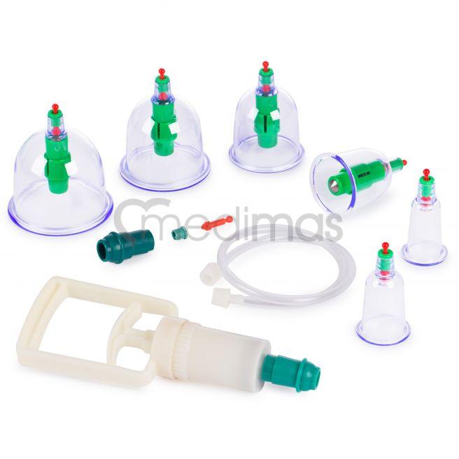 Koppningsset - vakuum plastkoppor med pump 6st